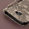 Alcatel OneTouch Fierce 2 - Black Lace MPERO FLEX FLIP Wallet Case Cover Angle 7