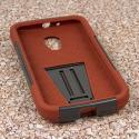 Motorola Moto G 2nd Gen 2014 -Sandstone / Gray MPERO IMPACT X - Stand Case Angle 2