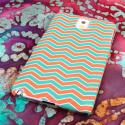 Samsung Galaxy Note 3 - Mint Chevron MPERO SNAPZ - Rubberized Case Cover Angle 3