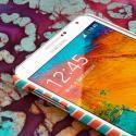Samsung Galaxy Note 3 - Mint Chevron MPERO SNAPZ - Rubberized Case Cover Angle 4