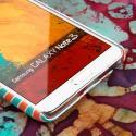 Samsung Galaxy Note 3 - Mint Chevron MPERO SNAPZ - Rubberized Case Cover Angle 5