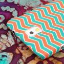 Samsung Galaxy Note 3 - Mint Chevron MPERO SNAPZ - Rubberized Case Cover Angle 6