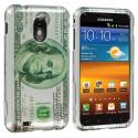 Samsung Epic Touch 4G D710 Sprint Galaxy S2 Hundred Dollars Design Crystal Hard Case Cover Angle 1