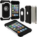 Apple iPod Touch 4th Generation White Hybrid Rugged Hard/Soft Case Cover Angle 2