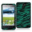 Huawei Premia 4G Black / Baby Blue Zebra Hard Rubberized Design Case Cover Angle 1
