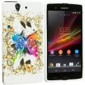 Sony Xperia Z Colorful Butterfly TPU Design Soft Case Cover Angle 1