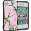 Apple iPhone 4 / 4S Hot Pink Tree Hybrid TPU Hard Soft Shockproof Drop Proof Case Cover Angle 1