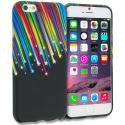 Apple iPhone 6 6S (4.7) Rainbow Star TPU Design Soft Rubber Case Cover Angle 1