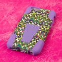 Apple iPhone 6 6S Plus - Purple Rainbow Leopard MPERO IMPACT X - Stand Case Angle 3