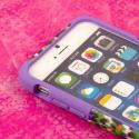 Apple iPhone 6 6S Plus - Purple Rainbow Leopard MPERO IMPACT X - Stand Case Angle 5
