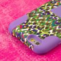 Apple iPhone 6 6S Plus - Purple Rainbow Leopard MPERO IMPACT X - Stand Case Angle 6