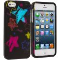 Apple iPhone 5/5S/SE ChalkBoard Stars Hard Rubberized Design Case Cover Angle 1
