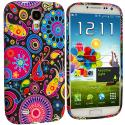 Samsung Galaxy S4 Rainbow Fish TPU Design Soft Case Cover Angle 1
