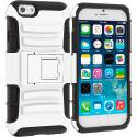 Apple iPhone 6 Plus 6S Plus (5.5) White Hybrid Heavy Duty Rugged Case Cover with Belt Clip Holster Angle 3