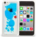 Apple iPhone 5C Blue Fish Tank 3D Liquid Hard Case Cover Angle 1