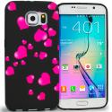 Samsung Galaxy S6 Raining Hearts TPU Design Soft Rubber Case Cover Angle 1