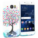 Samsung Galaxy S7 Love Tree on White TPU Design Soft Rubber Case Cover Angle 1