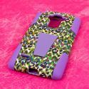 LG G Stylo - Purple Rainbow Leopard MPERO IMPACT X - Kickstand Case Cover Angle 3
