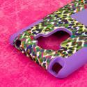 LG G Stylo - Purple Rainbow Leopard MPERO IMPACT X - Kickstand Case Cover Angle 6