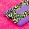 LG G Stylo - Purple Rainbow Leopard MPERO IMPACT X - Kickstand Case Cover Angle 7