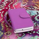Huawei Valiant - Purple MPERO FLEX FLIP Wallet Case Cover Angle 2