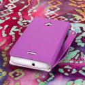 Huawei Valiant - Purple MPERO FLEX FLIP Wallet Case Cover Angle 3