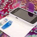 Huawei Valiant - Purple MPERO FLEX FLIP Wallet Case Cover Angle 4