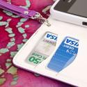 Huawei Valiant - Purple MPERO FLEX FLIP Wallet Case Cover Angle 6