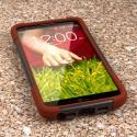 LG G2 - Sandstone / Gray MPERO IMPACT X - Kickstand Case Cover Angle 2