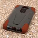 LG G2 - Sandstone / Gray MPERO IMPACT X - Kickstand Case Cover Angle 3