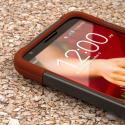 LG G2 - Sandstone / Gray MPERO IMPACT X - Kickstand Case Cover Angle 5