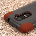 LG G2 - Sandstone / Gray MPERO IMPACT X - Kickstand Case Cover Angle 7