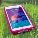 Samsung Galaxy Note 4 - Hot Pink MPERO IMPACT XL - Kickstand Case Cover Angle 2