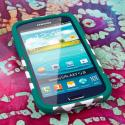 Samsung Galaxy S3 - Teal Chevron MPERO IMPACT X - Kickstand Case Cover Angle 2