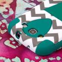 Samsung Galaxy S3 - Teal Chevron MPERO IMPACT X - Kickstand Case Cover Angle 6