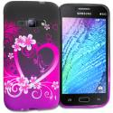 Samsung Galaxy J1 2016 Amp 2 Purple Love TPU Design Soft Rubber Case Cover Angle 1