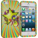 Apple iPhone 5/5S/SE SuperStar Hard Rubberized Design Case Cover Angle 1