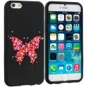 Apple iPhone 6 Plus 6S Plus (5.5) Butterfly Hearts TPU Design Soft Rubber Case Cover Angle 1