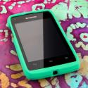 Kyocera Event - Mint MPERO SNAPZ - Rubberized Case Cover Angle 2
