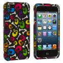 Apple iPhone 5/5S/SE Colorful Skull Hard Rubberized Design Case Cover Angle 2
