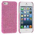 Apple iPhone 5/5S/SE Light Pink Bling Rhinestone Case Cover Angle 1