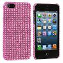 Apple iPhone 5/5S/SE Light Pink Bling Rhinestone Case Cover Angle 2