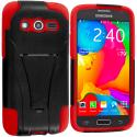 Samsung Galaxy Avant G386 Black / Red Hybrid Hard Soft Shockproof Case Cover with Kickstand Angle 2