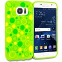 Samsung Galaxy S7 Green Bubbles TPU Design Soft Rubber Case Cover Angle 1