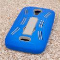 BLU Studio 5.0 - Blue MPERO IMPACT XL - Kickstand Case Cover Angle 3