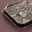 Samsung Galaxy S4 - Black Lace MPERO FLEX FLIP Wallet Case Cover Angle 7
