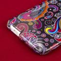HTC One Mini - Black Paisley MPERO SNAPZ - Glossy Case Cover Angle 7