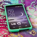 LG G FLEX - Mint Green MPERO SNAPZ - Rubberized Case Cover Angle 2