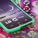 LG G FLEX - Mint Green MPERO SNAPZ - Rubberized Case Cover Angle 5