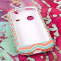 ZTE Whirl - Mint Chevron MPERO SNAPZ - Rubberized Case Cover Angle 2